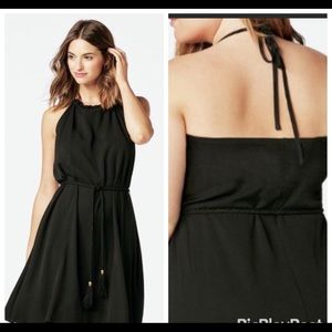 1XL& 2XL - Ruffle Neck Halter Dress